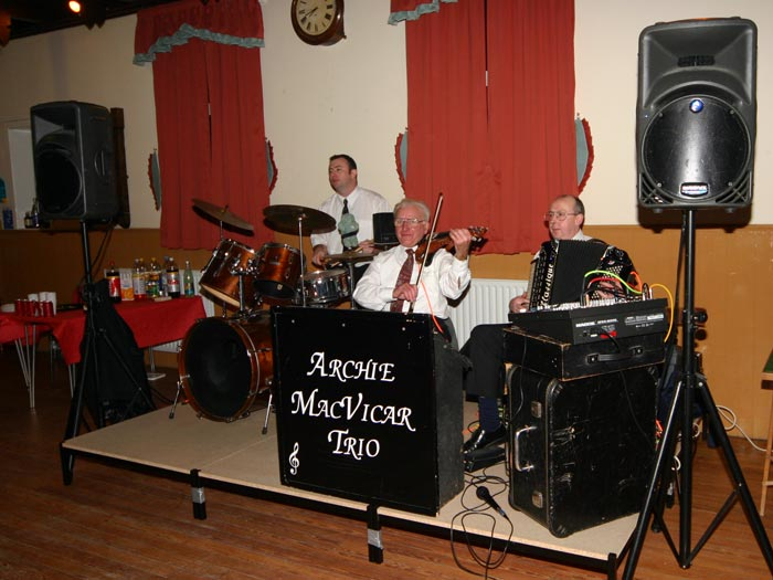 The Archie McVicar Trio - provided us with a wonderful evenings entertainment. Thank you guys!