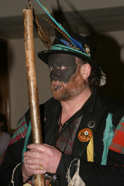 Belchamp Morris Dancer - with stick!